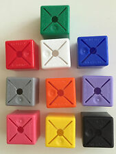 50 x PLAIN COLOUR SIZE HANGER CUBES CLOTHES GARMENT FASHION MARKERS ALL COLOURS