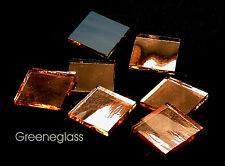 Champagne Mirror Mosaic Glass Tile * Cut to Order Shapes * Package
