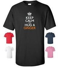 KEEP CALM AND HUG A GINGER FUNNY T-SHIRT MENS WOMENS CHILDRENS SIZES