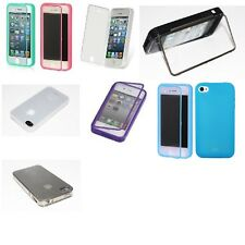 For iPhone 4 4S Wrap Up TPU Skin Case Cover With Built in Screen Protector