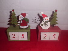 Christmas Wooden Count Down Advent Calendar 2 Designs You Choose