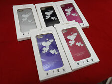 LED Light COLOR CHANGING Aluminum METAL LOVE HEART Case Cover for IPHONE 5 5S