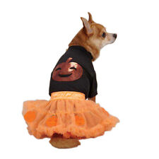 Zack & Zoey  PUMPKIN TEE & TULLE SKIRT SET Pet  Dog Halloween Costume XXS-M