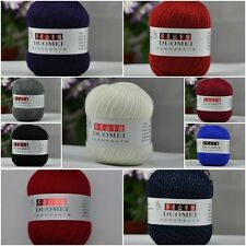 Wholesale! High quality 95% Merino Cashmere Yarn Lot Skein,Smooth&Warm;26 colors