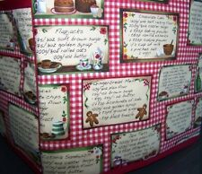 Recipe Cards Cooking Kitchen Quilted Fabric 2-Slice or 4-Slice Toaster Cover NEW