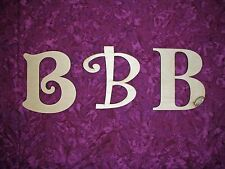 Unfinished Wood Letter B Wooden Letter Cut Out 6 inch Paintable,Stainable