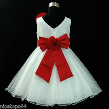 R668 Reds Thanksgiving Christmas Party Girls Dresses SIZE 1,2,3,4,5,6,7,8,10,12T