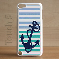 Fits Apple iPod Touch 5th Gen Ocean 2 Tone Stripes Case Cover Beach Shore Zen