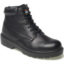 Dickies Boots Antrim Safety Steel Toe Cap & Ms Work Fa23333 Black Size Uk 7-13