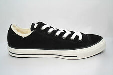 Converse Chuck Taylor ALL STAR Black Suede Leather Shearling Lined 2 pr laces