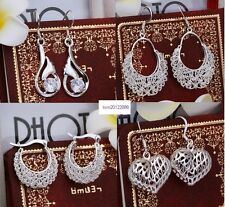 Christmas gift ! wholesale Fashion Jewelry solid 925Silver earrings+ gift box