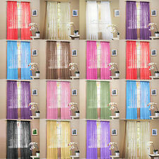 """2 Sheer Voile Window Panel Curtain Drape Treatment Scarf Assorted Colors 60""""x84"""""""