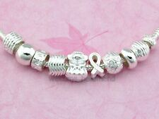 Wholesale Silver Plated Mix Charm Beads Fit Bracelet Choose Quantity SY06