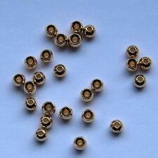 25 Tungsten beads GOLD 2,2.4,2.7,3.2mm options fly fishing fly tying-Dragonflies