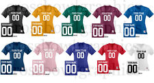 CUSTOM Women's Football Jersey ANY COLOR Personalized Name Number Team New! S-2X