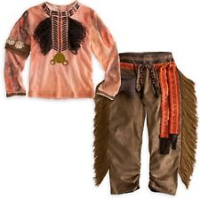 Disney Store TONTO Costume & Feather Crow Wig Headdress Boys The Lone Ranger