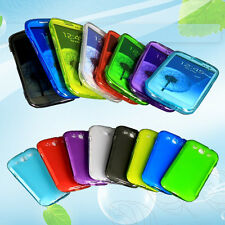 1*Flip Touch Screen Protector Wrap Up TPU Case Cover for Samsung Galaxy S3 I9300