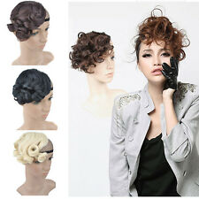 Fashion Woman Wavy Curly Bangs Fringe Hair Clip-in Hair Extension 4Colors AP17-1