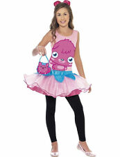 Child Licensed Poppet Moshi Monsters Girls Outfit Fancy Dress Costume