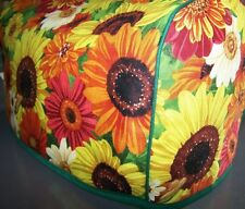 Fall Harvest Sunflowers Quilted Fabric 2-Slice or 4-Slice Toaster Cover NEW