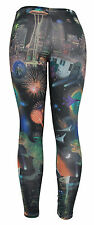 Dinosaurs Fireworks and Aliens Ladies Basic Leggings Shear Tights