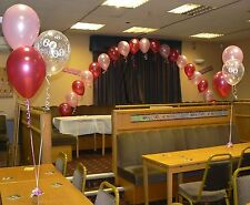 Birthday Party Balloons Decorations Arch & 10 Table Displays Many Ages & Colours