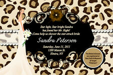 LEOPARD DIVA Bridal Shower Wedding Invitations Bride Invites