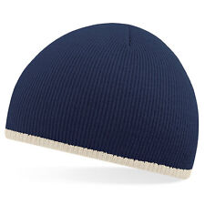 Supersoft Beechfield b44c Two-tone Beanie Hat - navy/stone - 1 size-100% Acrylic