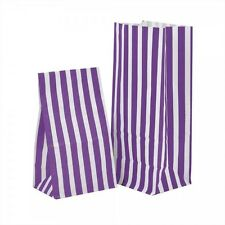 PURPLE CANDY SWEET / PICK AND N MIX PARTY BAGS - CAKE WEDDING BUFFET POPCORN BAG