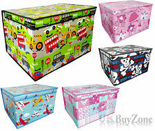 Kids Childrens Foldable Pop Up Storage Toy Books Clothes Box Tidy Chest