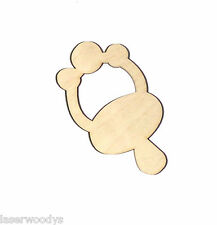 Baby Pacifier Unfinished Wood Shape Cut Out PB1228 Crafts Lindahl Woodcrafts