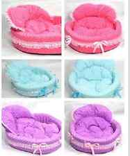 hot!! princess Cute Cozy warm Soft Lace Pet Bed house For Dog Puppy Cat 3 color