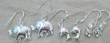 925 STERLING SILVER PLAIN DOUBLE SIDED ELEPHANT DOLPHIN TEDDY BEAR EARRINGS