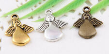 30Pcs Tibetan Silver/Gold/Bronze(Lead-Free) Angel Charms Pendants 18x13mm