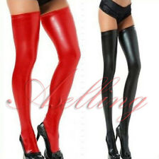 Sexy Women Leather Skinny Over Knee Socks Thigh-High Hose Club Stockings Cosplay