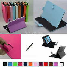"Colorful Magic PU Leather Case Cover+Stylus For 7"" ClickN KIDS CKP774-PR Tablet"