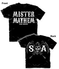 SONS OF ANARCHY MISTER MAYHEM DOUBLE SIDED PRINT T-SHIRT NEW !