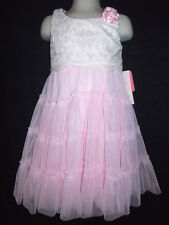 Jona Michelle pink lace tiered ruffle dress girls 2T 3T 4T NWT