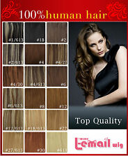 4A+Hair Piece 16Clips In 100% Remy Real Human Hair Extensions 7PCS,70g,Full Head