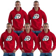 THING 1 2 3 4 5 6 7 8 DR SEUSS RED OTH HOODIE Cat in the Hat ADULTS & KIDS SIZES