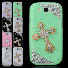 3D Metal Cross Bling Hard Cover Case For Samsung i9300 Galaxy SIII S3 Handmade