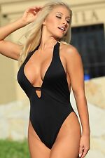 Ujena Black In the Mood One Piece Swimsuit - Sizes 6 8 10 12 14 1X