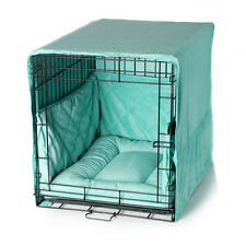 """Pet Dreams PLUSH BLUE 19"""" Dog Pet Puppy Wire Crate Training Cover Bed Bumper Pad"""