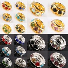 Wholesale Crystal Rhinestone Big Hole Spacer Beads Fit European Charms Bracelet