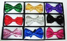 Shiny Sequin Bow Ties - Unisex and Adjustable - Party and Costume Bowties