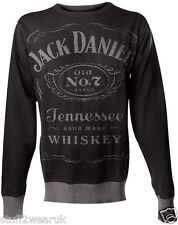 Jack Daniels Knitted Sweatshirt  OFFICIAL All Sizes Sweater Jumper Crew Neck