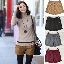 Fashion Women Autumn Winter flanging Fashion Mini Shorts Short Pants Size S-XXXL