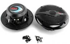 "NEW BOSS MR60B 6.5"" 2-Way 200W Marine/Boat Speakers Water Resistant Black"