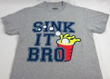 Mens NEW Spencers Sink It Bro Beer Pong Gray Short Sleeve T-Shirt Size S L