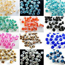 Wholesale 100pcs loose glass crystal bicone spacer beads 4x3mm AB Color
